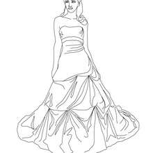 Dibujo de una princesa con su corona de oro para colorear - Dibujos para Colorear y Pintar - Dibujos de PRINCESAS para colorear - Dibujos para pintar PRINCESAS online
