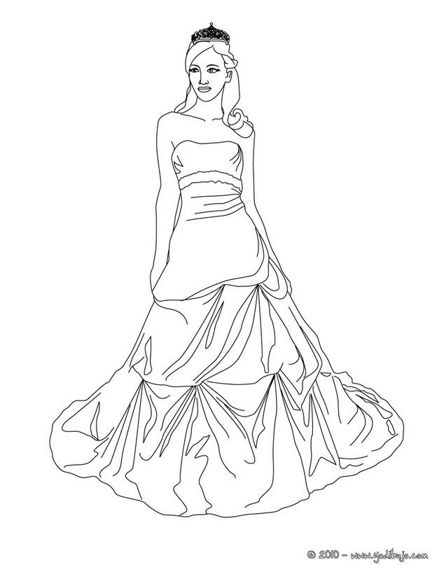 dibujos para colorear corona y princesa