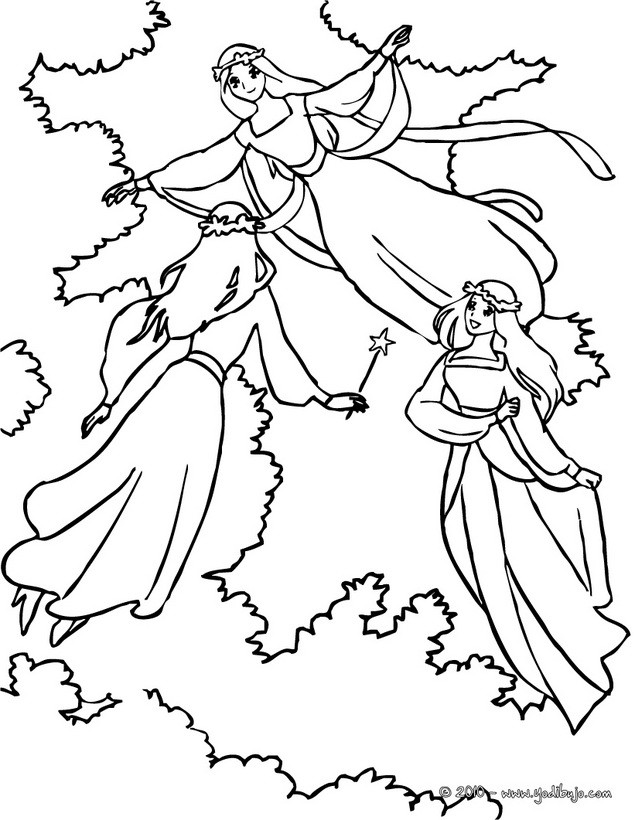Dibujos para colorear madrina hada magica  eshellokidscom