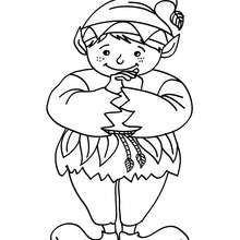 Dibujo para colorear : elfo chistoso