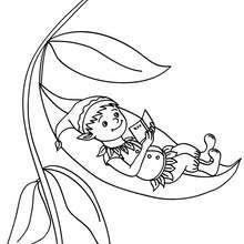 Dibujo para colorear elfo leyendo - Dibujos para Colorear y Pintar - Dibujos para colorear de FANTASIA - Dibujos de ELFOS para colorear - Colorear ELFOS CHISTOSOS