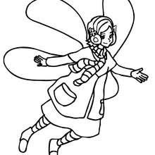 Dibujo para colorear una elfo volando - Dibujos para Colorear y Pintar - Dibujos para colorear de FANTASIA - Dibujos de ELFOS para colorear - Colorear ELFOS CON ALAS