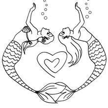 Dibujos Para Colorear Sirenas Y Corazones Eshellokidscom