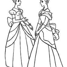 2 princesas para colorear - Dibujos para Colorear y Pintar - Dibujos de PRINCESAS para colorear - Dibujos para pintar PRINCESAS online