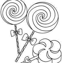 Dibujo de paletas para colorear - Dibujos para Colorear y Pintar - Dibujos para colorear FIESTAS - Dibujos para colorear CUMPLEAÑOS - Dibujos CUMPLEAÑOS para colorear imprimir