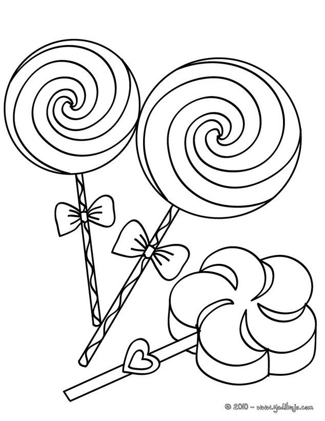 Dibujo de paletas para colorear - Dibujos CUMPLEAÑOS para colorear ...