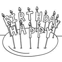 Velas de cumpleaños para colorear - Dibujos para Colorear y Pintar - Dibujos para colorear FIESTAS - Dibujos para colorear CUMPLEAÑOS - Dibujos para colorear CUMPLEAÑOS GRATIS