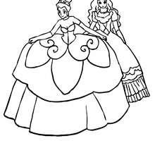 Hermosos vestidos de princesas para colorear - Dibujos para Colorear y Pintar - Dibujos de PRINCESAS para colorear - Dibujos para pintar PRINCESAS