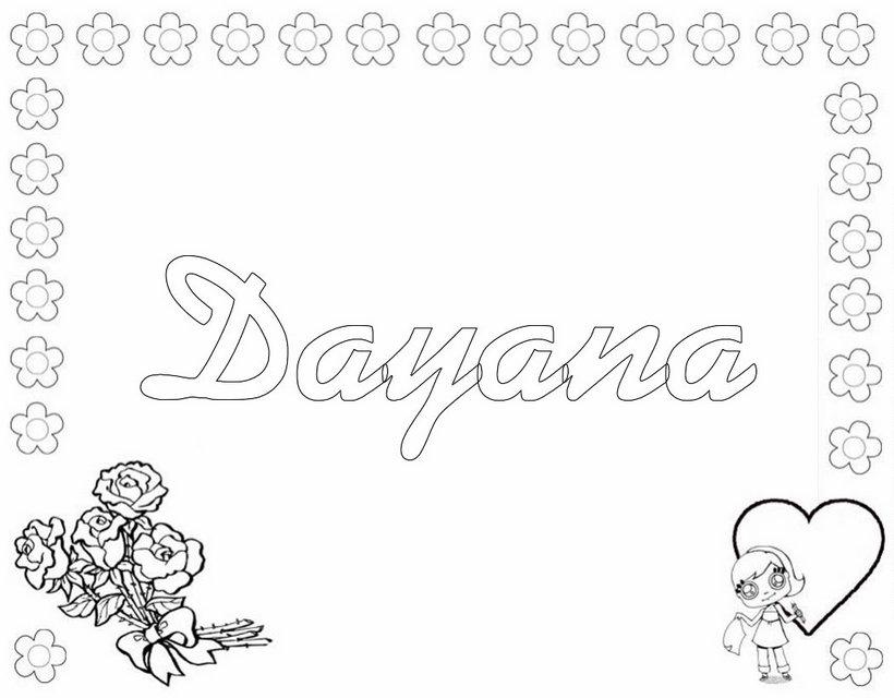 Dibujos para colorear dayana - es.hellokids.com