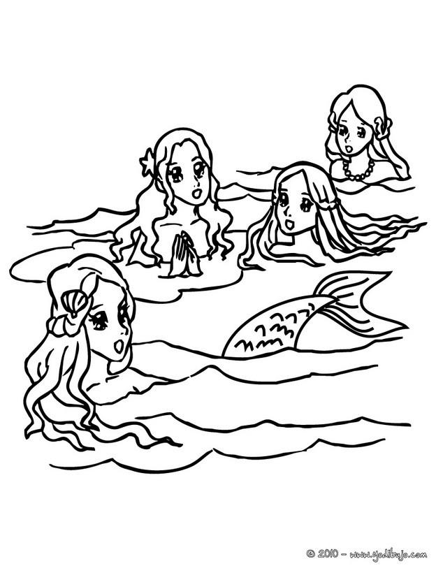 Dibujos para colorear triton enojado - es.hellokids.com