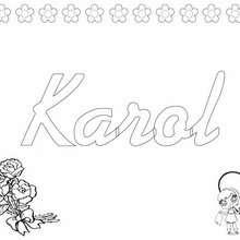 KAROL colorear nombre niña - Dibujos para Colorear y Pintar - Dibujos para colorear NOMBRES - Dibujos para colorear NOMBRES NIÑAS
