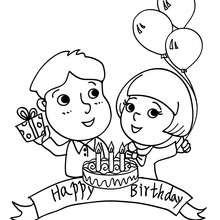 Feliz cumpleaños para colorear - Dibujos para Colorear y Pintar - Dibujos para colorear FIESTAS - Dibujos para colorear CUMPLEAÑOS - Dibujos para colorear FELIZ CUMPLEAÑOS