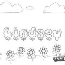 LINDSEY colorear niña - Dibujos para Colorear y Pintar - Dibujos para colorear NOMBRES - Dibujos para colorear NOMBRES NIÑAS