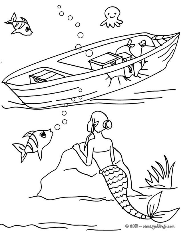 Dibujos para colorear el palacio submarino de triton - es.hellokids.com