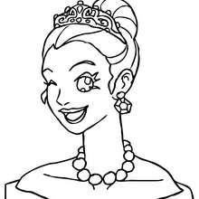 Guiño de princesa para colorear - Dibujos para Colorear y Pintar - Dibujos de PRINCESAS para colorear - Dibujos para colorear RETRATO DE PRINCESA