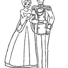 Princesa y principe para colorear - Dibujos para Colorear y Pintar - Dibujos de PRINCESAS para colorear - Dibujos de PRINCESA Y PRINCIPE para colorear