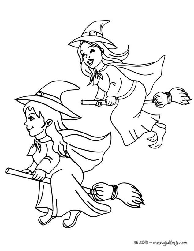 Dibujos De Brujas Para Colorear 71 Brujas De Halloween
