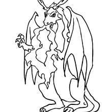 Dibujo de un dragon malo para colorear - Dibujos para Colorear y Pintar - Dibujos para colorear de FANTASIA - Dibujos para colorear DRAGONES - Dibujos para colorear DRAGON ONLINE