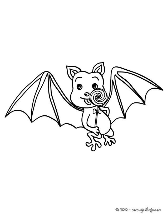 Dibujos para colorear murcielago con chuches es - Murcielago para imprimir ...