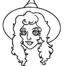 Dibujo retrato de hermosa bruja para colorear hallloween - Dibujos para Colorear y Pintar - Dibujos para colorear FIESTAS - Dibujos para colorear HALLOWEEN - Dibujos de BRUJAS para colorear - Dibujos RETRATO DE BRUJA para colorear