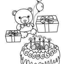 Dibujo tarta de cumpleaños para colorear - Dibujos para Colorear y Pintar - Dibujos para colorear FIESTAS - Dibujos para colorear CUMPLEAÑOS - Dibujos para colorear TARTAS CUMPLEAÑOS