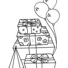 Dibujo regalos de cumpleaños para colorear - Dibujos para Colorear y Pintar - Dibujos para colorear FIESTAS - Dibujos para colorear CUMPLEAÑOS - Dibujos CUMPLEAÑOS para colorear imprimir