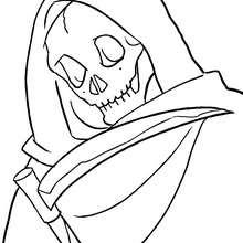 retrato de la muerte de halloween