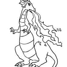 Dibujo para colorear un dragon terroifico - Dibujos para Colorear y Pintar - Dibujos para colorear de FANTASIA - Dibujos para colorear DRAGONES - Dibujos para colorear DRAGON ONLINE