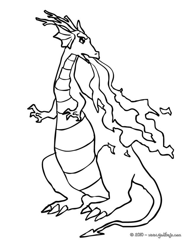 Dibujos para colorear un dragon terroifico - es.hellokids.com