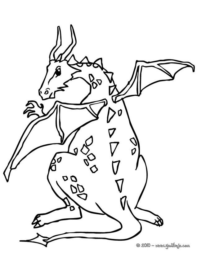 Dibujos para colorear dragón del lago - es.hellokids.com