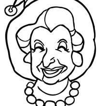dibujo retrato de vieja bruja chistosa para colorear halloween - Dibujos para Colorear y Pintar - Dibujos para colorear FIESTAS - Dibujos para colorear HALLOWEEN - Dibujos de BRUJAS para colorear - Dibujos RETRATO DE BRUJA para colorear