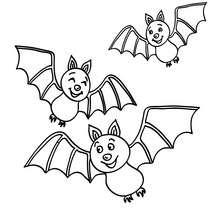 Dibujo de murcielagos volando para colorear - Dibujos para Colorear y Pintar - Dibujos para colorear FIESTAS - Dibujos para colorear HALLOWEEN - Dibujos para colorear MURCIELAGOS HALLOWEEN