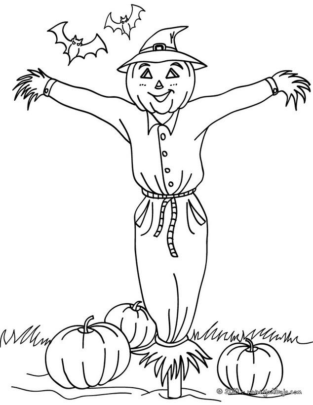 Dibujos para colorear espantapájaros - es.hellokids.com
