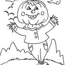 Dibujo jakc o lantern chistoso para colorear - Dibujos para Colorear y Pintar - Dibujos para colorear FIESTAS - Dibujos para colorear HALLOWEEN - Dibujos para colorear JACK O LANTERN HALLOWEEN