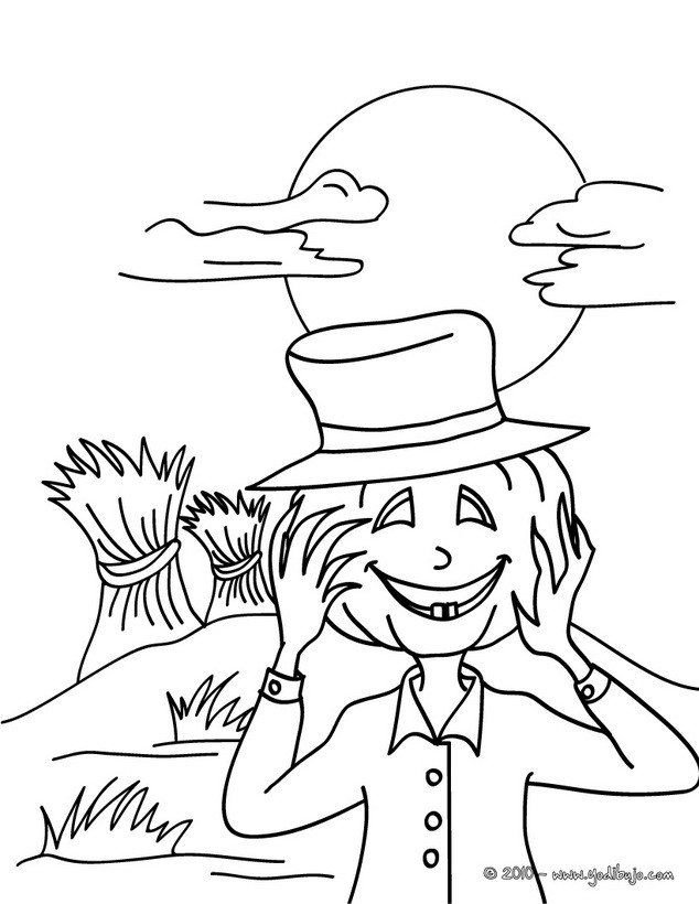 Dibujos para colorear jack o lantern de halloween - es.hellokids.com