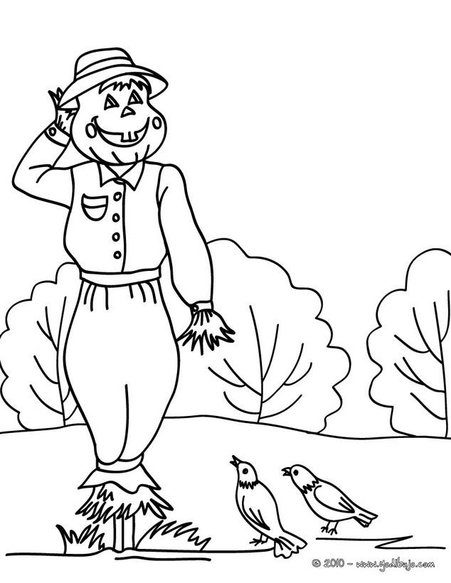 Dibujos para colorear jack o lantern con pajaros halloween - es ...
