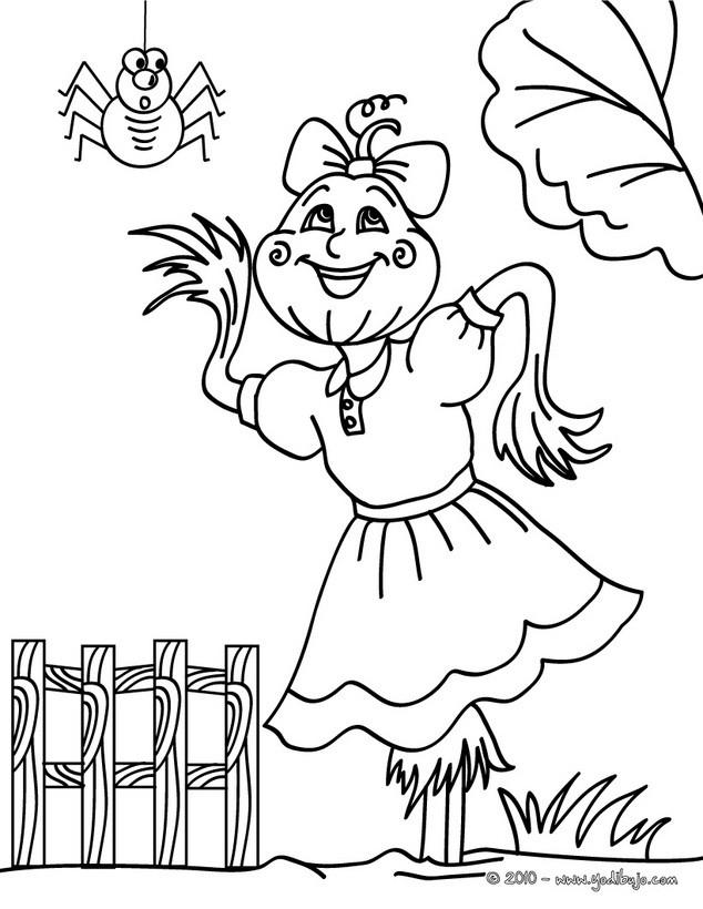 Dibujos para colorear espantapájaros vivo - es.hellokids.com