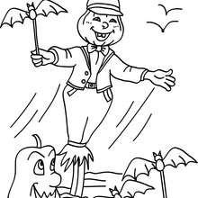 Dibujo de jack o lantern con murcielagos para colorar halloween - Dibujos para Colorear y Pintar - Dibujos para colorear FIESTAS - Dibujos para colorear HALLOWEEN - Dibujos para colorear JACK O LANTERN HALLOWEEN