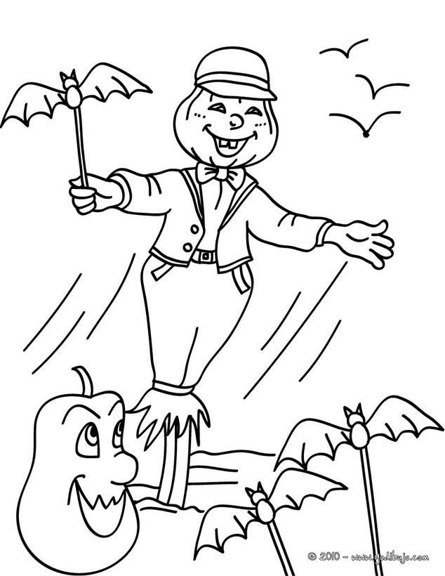 Dibujos para colorear jack o lantern con murcielagos - Dibujos de murcielagos para ninos ...