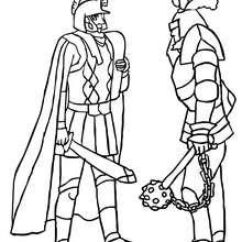 Dibujo para colorear : 2 caballeros