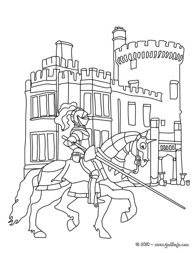Dibujos para colorear un caballero en armadura a caballo - es ...