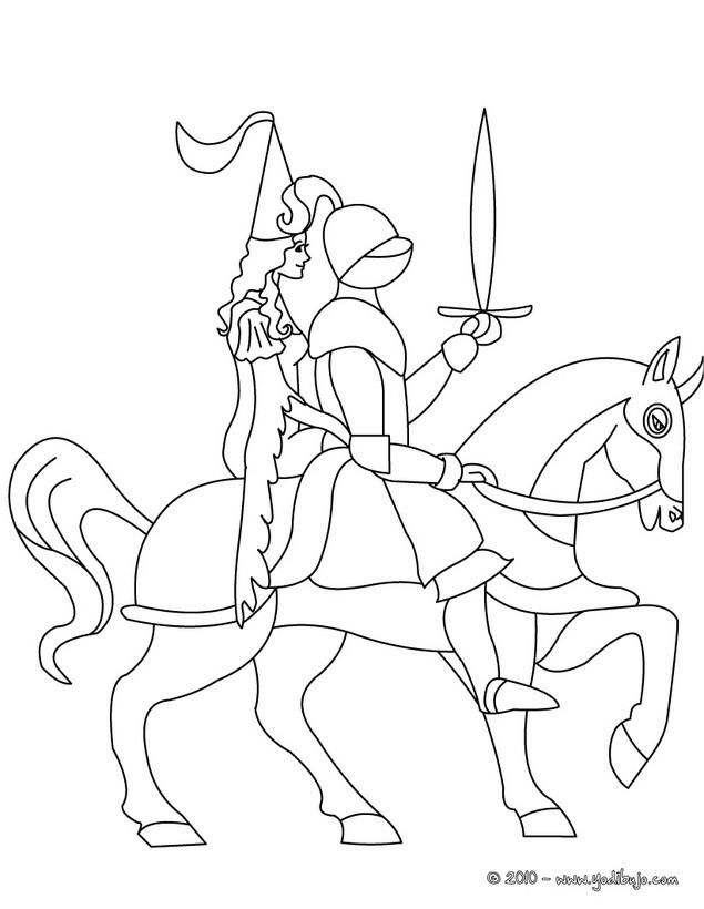 Dibujos para colorear CABALLEROS - 27 dibujos de fantasía para ...
