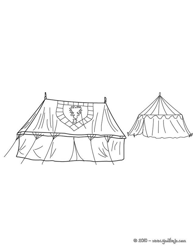 Dibujos para colorear campamento de caballeros medievales - es ...