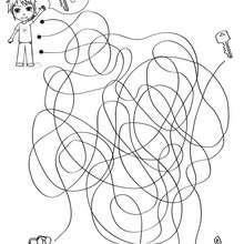 Página para imprimir : BUSCA LA LLAVE laberinto para jugar