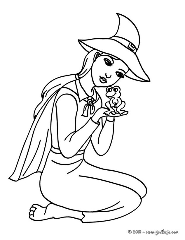 Dibujos para colorear bruja hermosa - es.hellokids.com