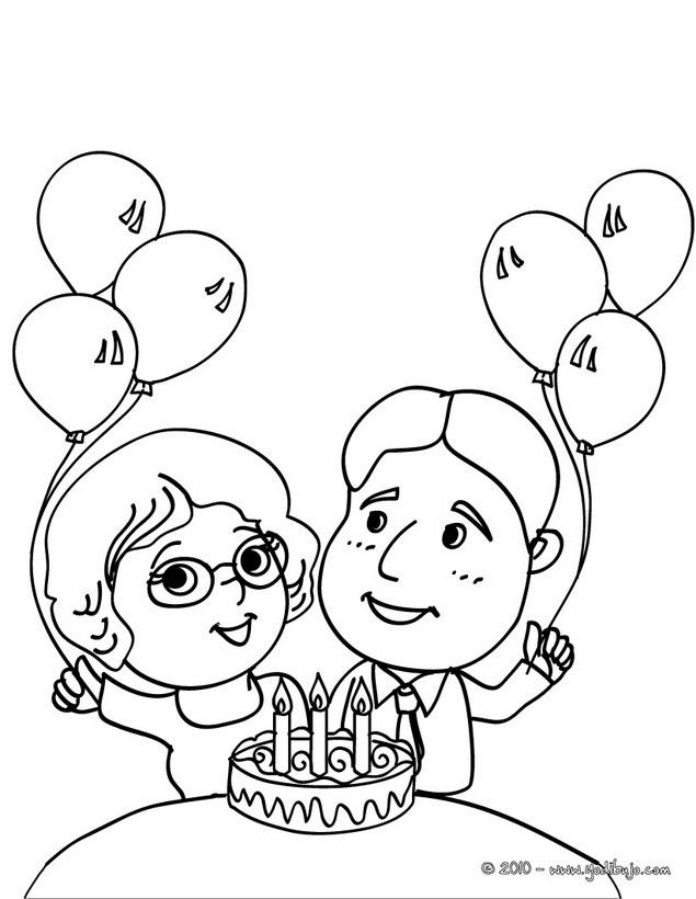 Dibujos para colorear feliz cumpleaños - es.hellokids.com