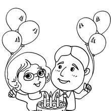 Dibujo padres para cumpleaños para colorear - Dibujos para Colorear y Pintar - Dibujos para colorear FIESTAS - Dibujos para colorear CUMPLEAÑOS - Dibujos para colorear FELIZ CUMPLEAÑOS