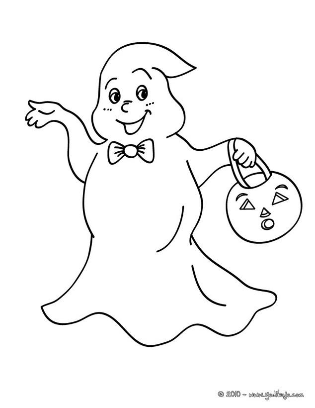 Dibujos para colorear perro fantasma - es.hellokids.com