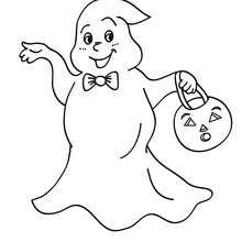Dibujo para colorear fantasma chistoso para halloween - Dibujos para Colorear y Pintar - Dibujos para colorear FIESTAS - Dibujos para colorear HALLOWEEN - Dibujos para colorear FANTASMAS HALLOWEEN