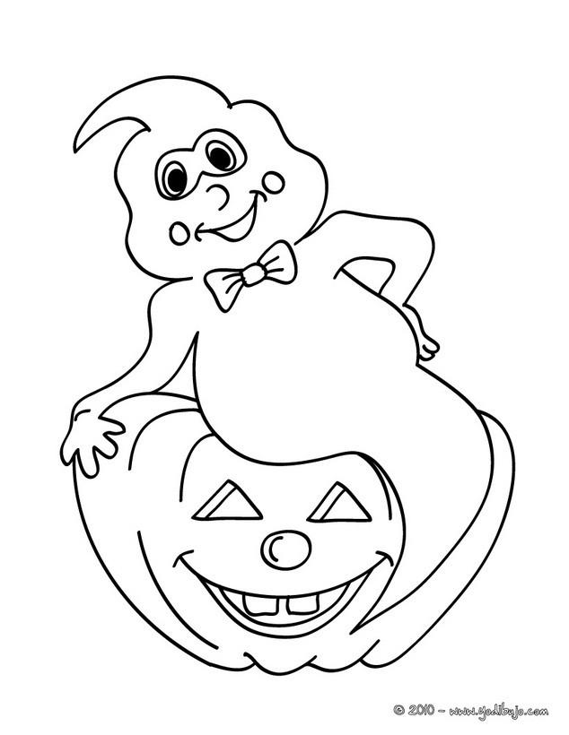 Dibujos para colorear fantasma de halloween y calabaza - Calabazas para imprimir ...